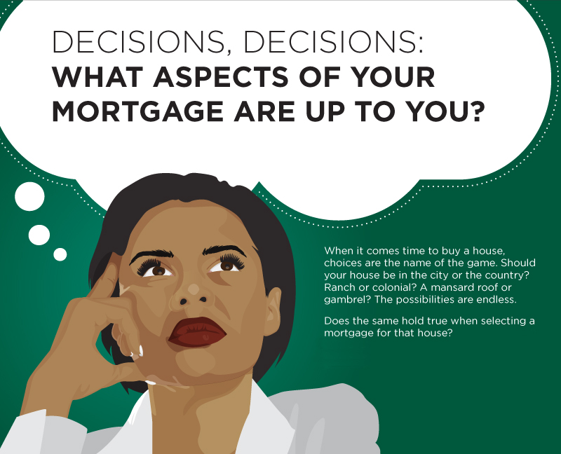 What aspects of a mortgage are under your control